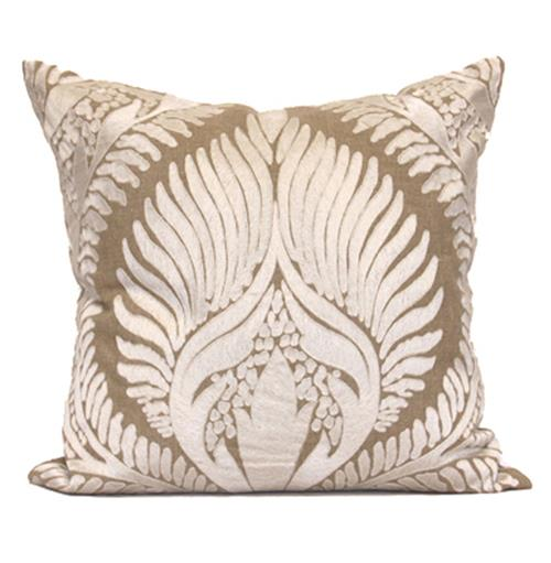Revere Coastal Beach Tan Natural Pillow - 24x24 | Kathy Kuo Home