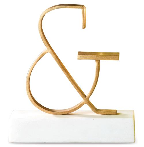 Bell Hollywood Regency Gold Ampersand Sculpture | Kathy Kuo Home