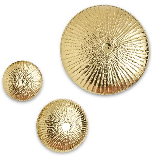 Mollusk Coastal Beach Gold Wall Sculpture - 9 Inch | Kathy Kuo Home
