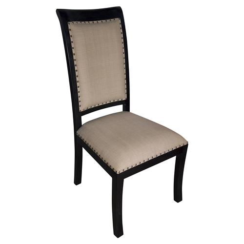 Toulon Hand Rubbed Black French Country Side Chair | Kathy Kuo Home