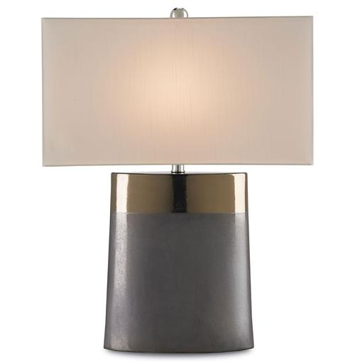 Two Toned Bronze Ceramic Large Modern Table Lamp | Kathy Kuo Home