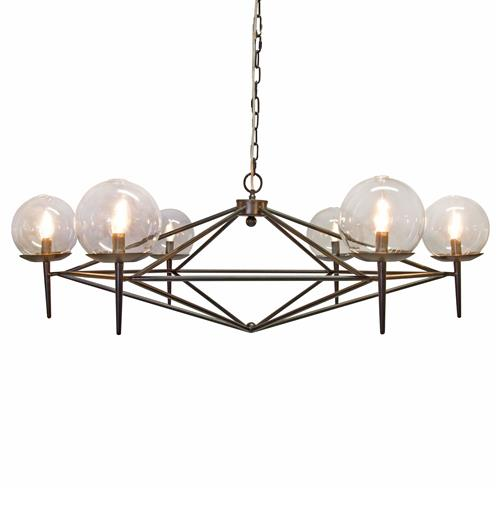 Sputnik Hollywood Regency Retro Black Chandelier | Kathy Kuo Home