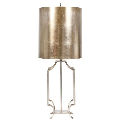 Haley Hollywood Regency Silver Leaf Table Lamp | Kathy Kuo Home