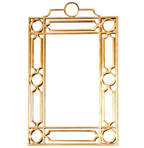 Brando Hollywood Regency Gold Trellis Wall Mirror | Kathy Kuo Home