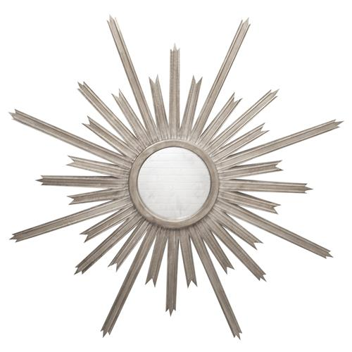 Vector Hollywood Regency Silver Sunburst Antique Wall Mirror | Kathy Kuo Home