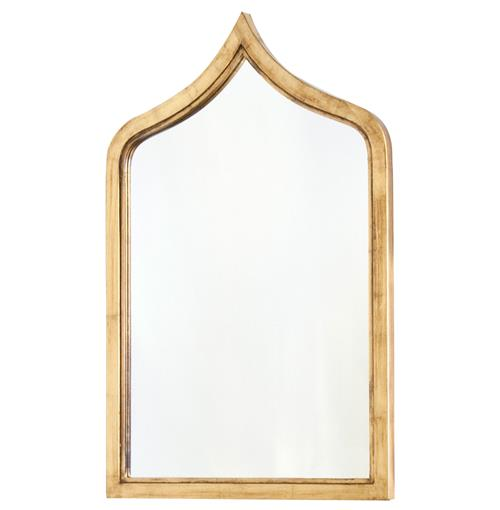 Putrajaya Global Bazaar Gold Frame Wall Mirror - 36H | Kathy Kuo Home