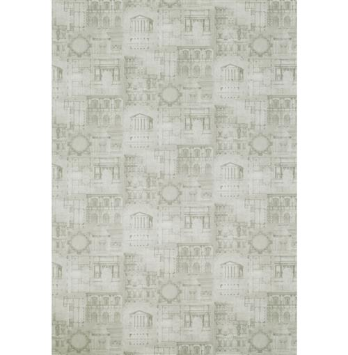 Roman Greek Architecture Blueprint Wallpaper - Pencil - 2 Rolls | Kathy Kuo Home