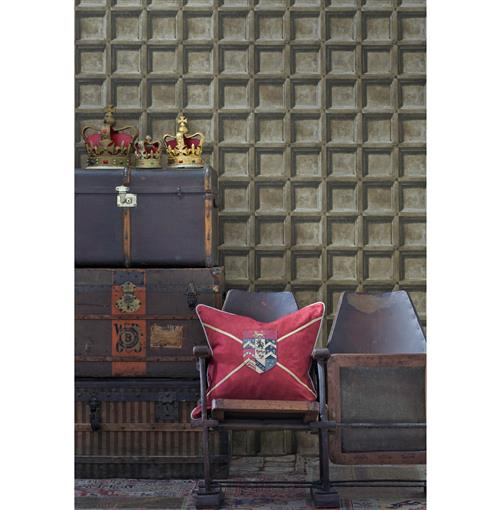 Trompe L'oeil Wood Panel Wallpaper - Oak - 2 Rolls | Kathy Kuo Home