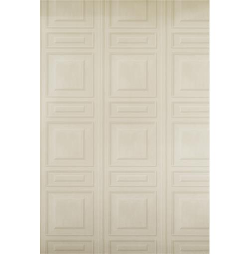 French Wood Moulding Panel Wallpaper - Bone - 2 Rolls | Kathy Kuo Home