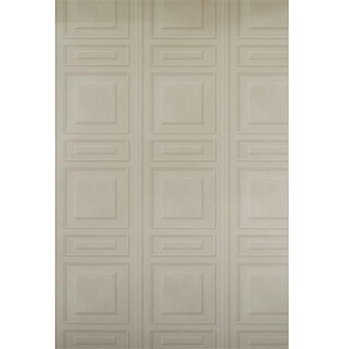 French Wood Moulding Panel Wallpaper - Taupe - 2 Rolls | Kathy Kuo Home