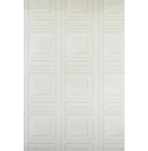 French Wood Moulding Panel Wallpaper - White - 2 Rolls | Kathy Kuo Home