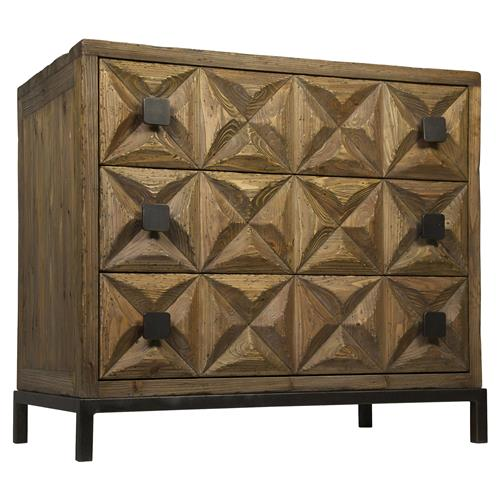 Noir Jones Global Bazaar Reclaimed Wood 3-Drawer Dresser | Kathy Kuo Home