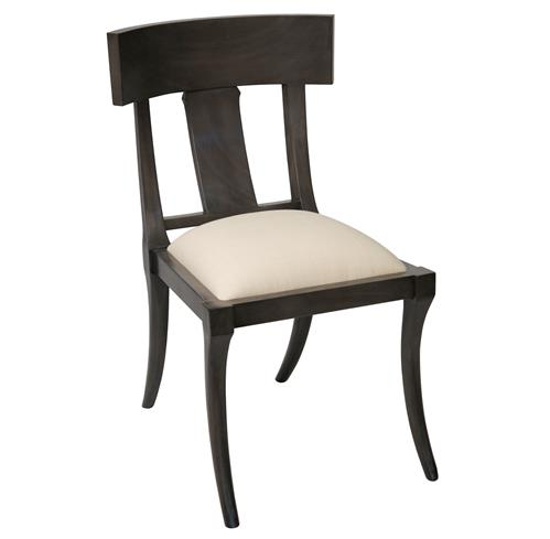 Tabor Global Bazaar Black Wood Dining Chair | Kathy Kuo Home