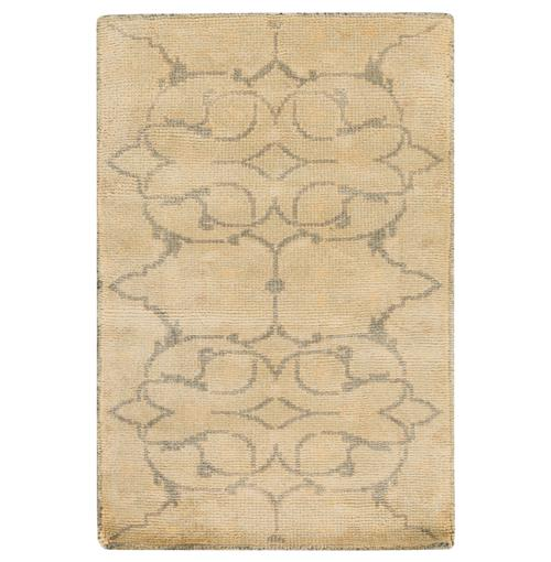 Mouret French Country Grey Olive Hand Knotted Wool Rug - 2x3 | Kathy Kuo Home
