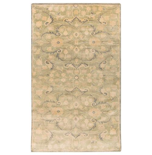 Mouret French Country Grey Olive Hand Knotted Wool Rug - 8x11 | Kathy Kuo Home