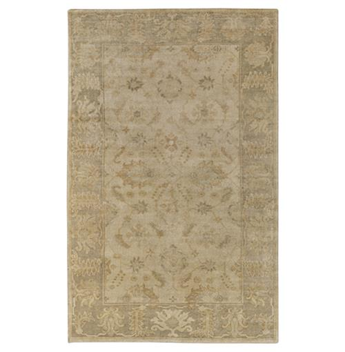 Jancourt French Country Sky Blue Gold Hand Knotted Wool Rug - 8x11 | Kathy Kuo Home