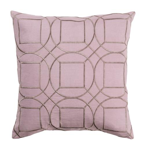 Goldie Hollywood Regency Linen Down Pink Pillow - 22x22 | Kathy Kuo Home