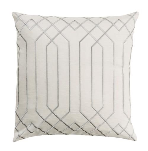 Jillian Hollywood Regency Linen Down White Pillow - 20x20 | Kathy Kuo Home