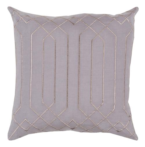 Jillian Hollywood Regency Linen Down Taupe Pillow - 22x22 | Kathy Kuo Home