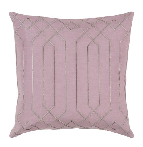 Jillian Hollywood Regency Linen Down Pink Pillow - 22x22 | Kathy Kuo Home