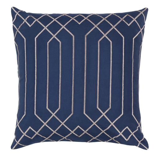 Jillian Hollywood Regency Linen Down Navy Pillow - 20x20 | Kathy Kuo Home