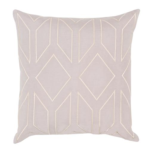Angelina Hollywood Regency Linen Down Light Grey Pillow - 20x20 | Kathy Kuo Home