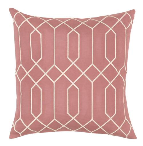 Kylie Hollywood Regency Linen Down Salmon Pillow - 18x18 | Kathy Kuo Home