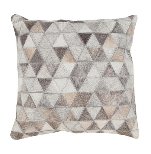 Aviston Rustic Lodge Triangle Hair on Hide Pillow - 18x18 | Kathy Kuo Home