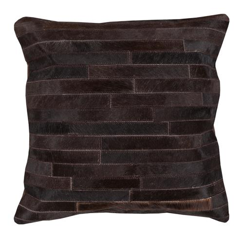 Ewing Rustic Lodge Tile Hair on Hide Pillow - 20x20 | Kathy Kuo Home