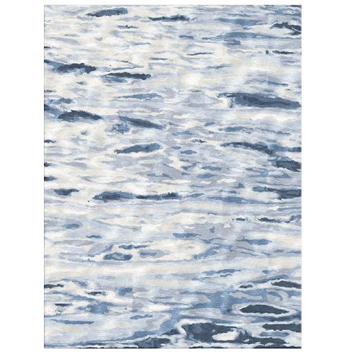 Gregson Blue Hand Knotted Tibetan Wool Rug - 4' x 6' | Kathy Kuo Home