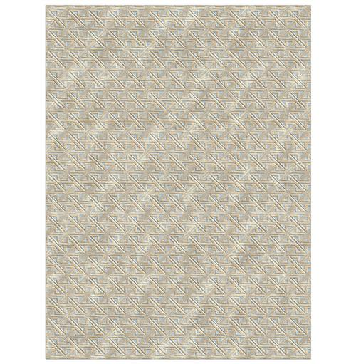 Valencia Beige Hand Knotted Tibetan Wool Rug - 4x6 | Kathy Kuo Home