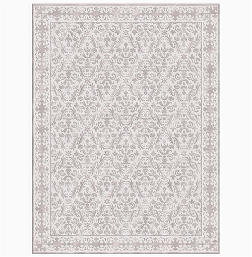 Calandra Silver Hand Knotted Tibetan Wool Rug - 4x6 | Kathy Kuo Home