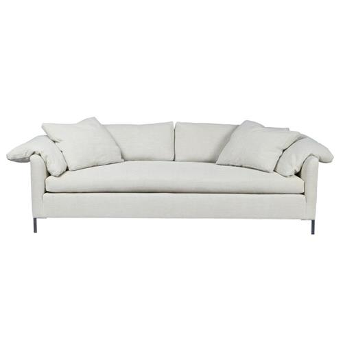 Cisco Brothers Radley Modern Classic Grey Cotton Upholstered Sofa - 90 Inch | Kathy Kuo Home