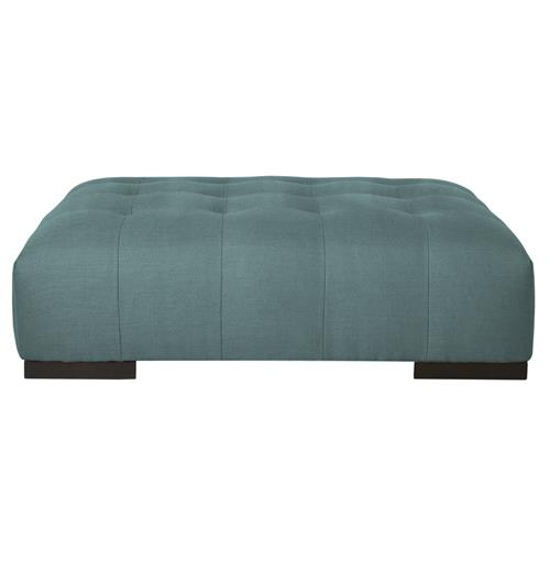 Arden Modern Classic Tufted Powder Blue Rectangle Coffee Table Ottoman Kathy Kuo Home