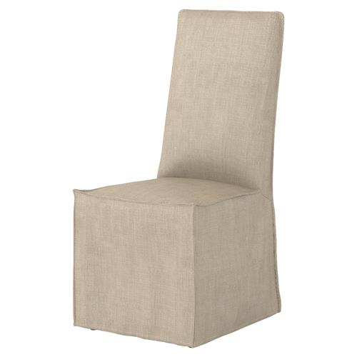 Lena Modern Classic Light Linen Slipcover Dining Chair - Pair | Kathy Kuo Home