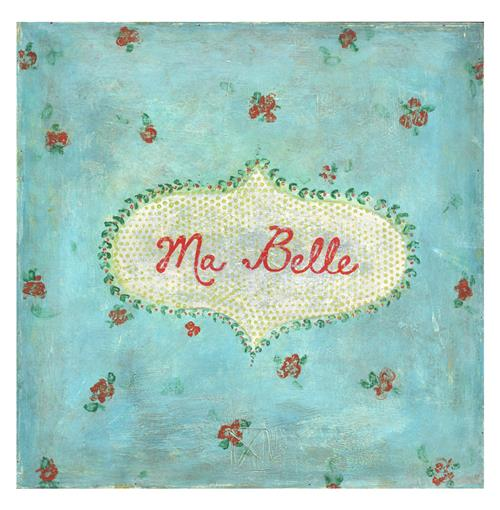 Ma Belle Turquoise Red Painted Vintage Wall Art - 12 Inch | Kathy Kuo Home