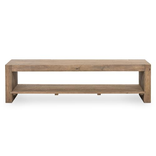 Wynn Modern Rustic Lodge Chunky Reclaimed Wood Rectangle