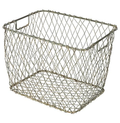 Claudio Industrial Country Market Metal Baskets - Set of 4 | Kathy Kuo Home