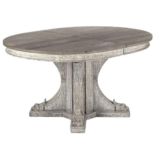 Agnes French Country Rustic Oval Extendable Dining Table | Kathy Kuo Home