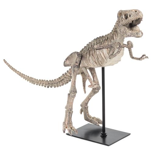 T-Rex Full Body Mount Replica Black Tabletop Sculpture - 19.5 Inch | Kathy Kuo Home