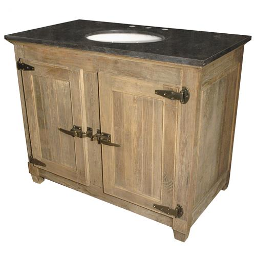 Reclaimed Stone Sink : ... Reclaimed Elm Blue Stone Single Bath Vanity Sink Kathy Kuo Home