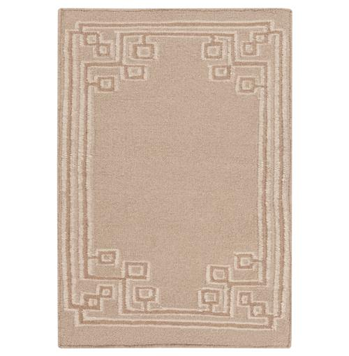Lockhart Hollywood Regency Warm Light Grey Hand Woven Wool Rug - 2x3 | Kathy Kuo Home