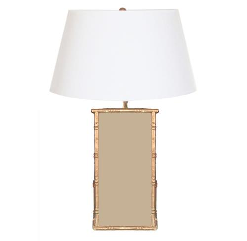 Bassford Hand Painted Bamboo Trim Taupe Table Lamp | Kathy Kuo Home