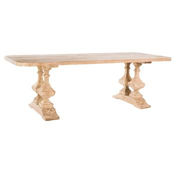 French Country Large Banquet Hall Natural Wood Dining Table Dining