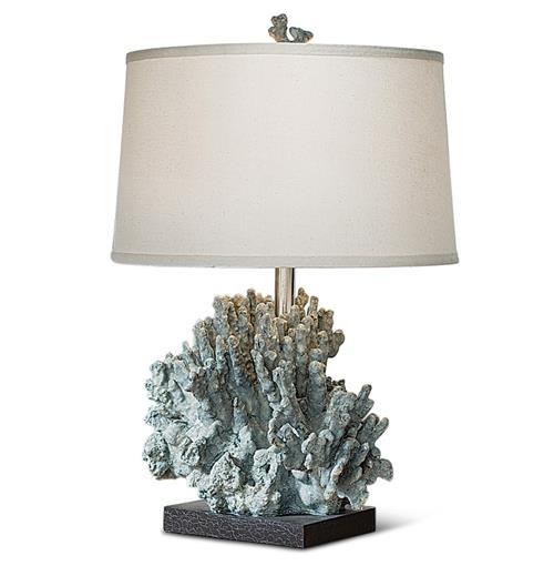 Andros Coastal Beach Blue Grey Coral Table Lamp Kathy