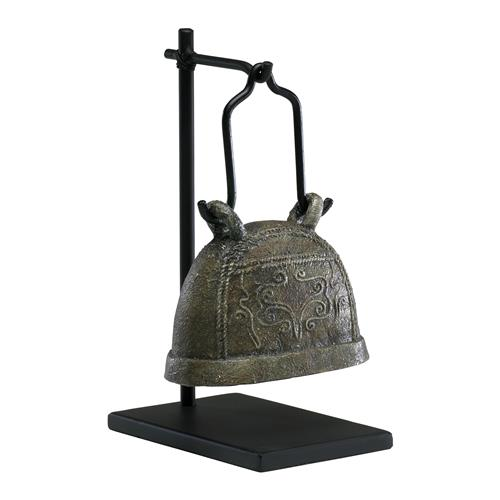 Antique Livestock Cowbell Sculpture on Stand #2