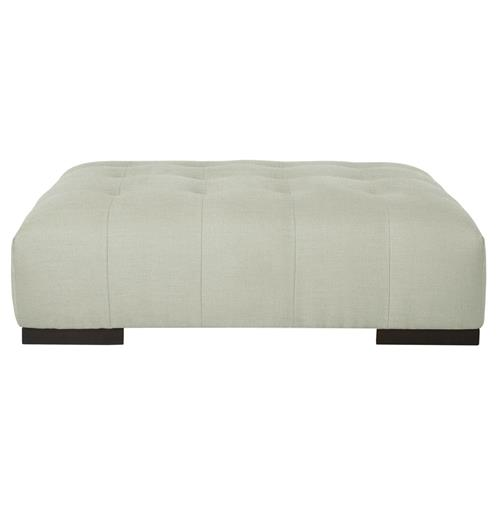 Arden Modern Classic Tufted Pale Blue Rectangle Coffee Table Ottoman Kathy Kuo Home