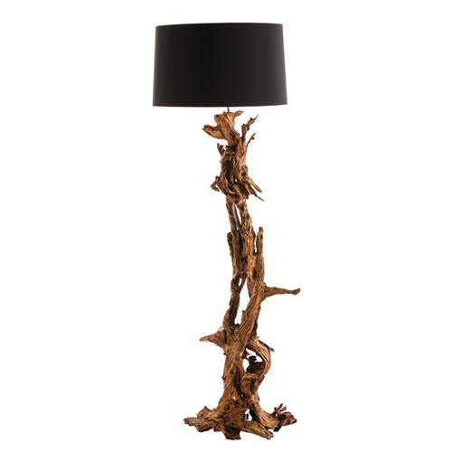 Ashland Gold Leaf Dragon Mangrove Global Tree Root Floor Lamp