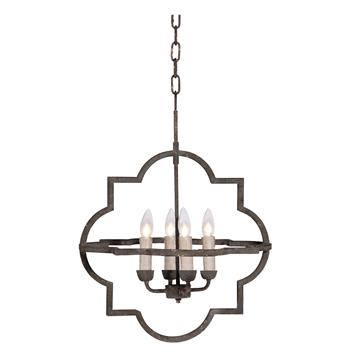 Quatrefoil Light Fixture