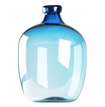 Azure Beach Blue Large Glass Bulb Vase